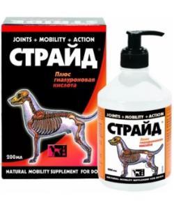 Страйд Плюс Витамины для суставов Собак (сироп): Глюкозамин+ хондроитин+ сера (Stride Plus)