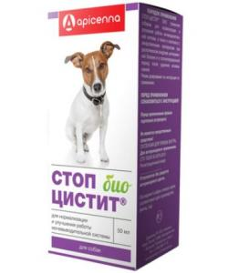 Стоп цистит БИО для собак: лечение и профилактика МКБ (суспензия)