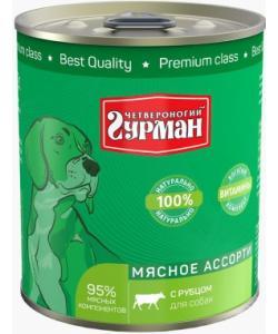 Консервы для собак «Мясное ассорти» с рубцом