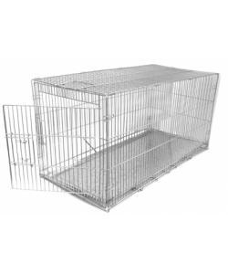 Клетка для собак складная, КЛС-1 40*82*42см, металлический поддон