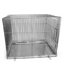 Клетка для собак складная, КЛС-2 60*80*65 см, металлический поддон