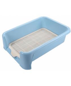 Туалет P652 для собак с сеткой, 52*40*15см, голубой