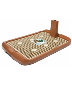 Туалет для собак со столбиком 70*47*4см (PL-001), коричневый