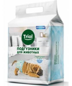 Подгузники для животных весом 4-7 кг (размер S) 20 шт.