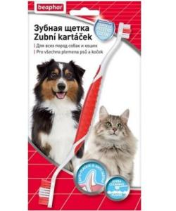 Двойная зубная щетка для собак и кошек, Toothbrush