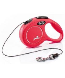 Рулетка-трос для собак до 8кг, 3м, (New Classic XS cord)