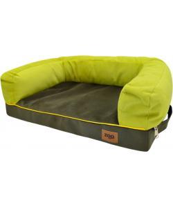 """Лежанка диван """"Ампир"""" мебельная ткань (оливковый/зеленый)"""