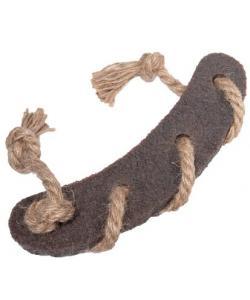 Игрушка для собак Сосиска c веревкой из экорезины, серия GUM GUM DOG ECO (85005) 21,5см