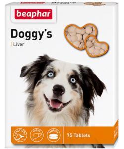 Кормовая добавка Doggy's + Liver со вкусом печени для собак, 75шт.
