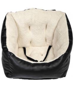 Автокресло для собак, экокожа/искусственный мех, черное, 50*50*45см