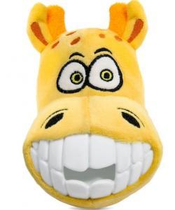 """Игрушка для собак мягкая """"Зубастый жираф"""", 14см"""
