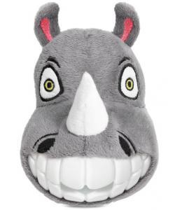 """Игрушка для собак мягкая """"Зубастый носорог"""", 14см"""