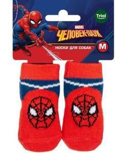Носки для собак Marvel Человек-паук, размер M, 3*7,5см