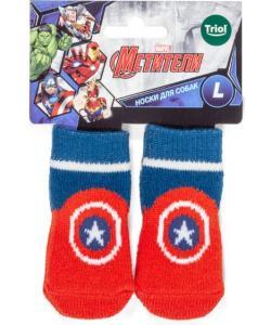 Носки для собак Marvel Капитан Америка, размер L, 3,5*9см