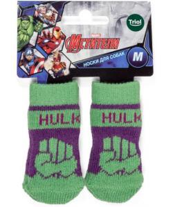 Носки для собак Marvel Халк, размер M, 3*7,5см
