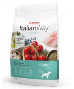 Беззерновой корм для собак с форелью и черникой,контроль веса и профилактика аллергии (ITALIAN WAY MED IDEAL WEIGHT TROUT/BLUEBERRY)