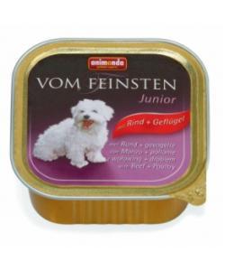 Консервы  для щенков и юниоров с говядиной и мясом домашней птицы (Vom Feinsten Junior)
