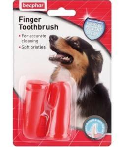 Зубная щетка двойная  для собак, на палец