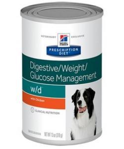 Консервы W/D для Собак - Лечение сахарного диабета, запоров, колитов (Low Fat/Diabet)