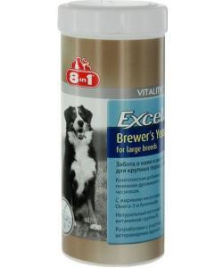 Excel brewer`s yeast for large breeds Пивные дрожжи для собак крупных пород, 80 таб.