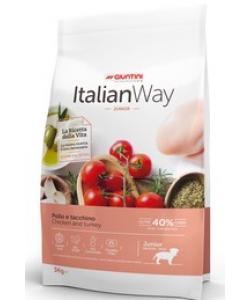 Для щенков средних и крупных пород с курицей и индейкой (ITALIAN WAY JUNIOR MED/MAXI CHICKEN/TURKEY)