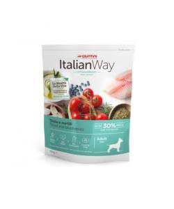 Беззерновой корм для собак малых пород с форелью и черникой,контроль веса и профилактика аллергии (ITALIAN WAY MINI IDEAL WEIGHT TROUT/BLUEBERRY)