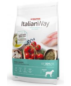 Беззерновой корм для собак крупных пород с форелью и черникой,контроль веса и профилактика аллергии (ITALIAN WAY MAXI IDEAL WEIGHT TROUT/BLUEBERRY)