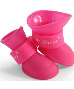 """Сапожки резиновые """"Mr.Shoes"""" для собак, розовые 4 шт. размер S (YXS200)"""