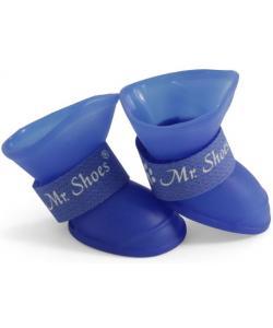 """Сапожки резиновые """"Mr.Shoes"""" для собак, синиие 4 шт. размер S (YXS202)"""