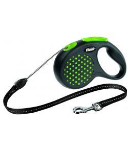 Рулетка-трос для собак до 20кг, 5м, зеленая (Design M Cord 5 m, green)