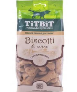 Лакомство для собак Печенье Бискотти с печенью говяжьей