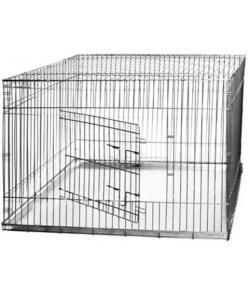 Клетка для собак складная, КЛС-3 120*80*80 см, металлический поддон