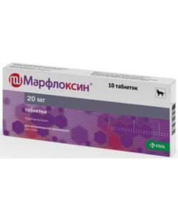 Марфлоксин, противобактериальное средство таб., 20 мг №10