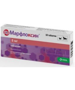 Марфлоксин, противобактериальное средство таб., 5 мг №10