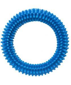 """Игрушка для собак """"Кольцо"""" с шипами, голубое, 10см"""