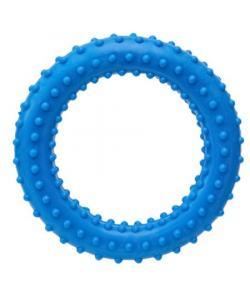 """Игрушка для собак """"Кольцо"""" с шипами, голубое, 6,8см"""