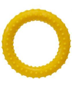 """Игрушка для собак """"Кольцо"""" с шипами, желтое, 13см"""