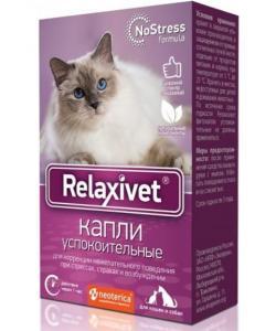 Relaxivet Капли успокоительные для кошек и собак, 10мл