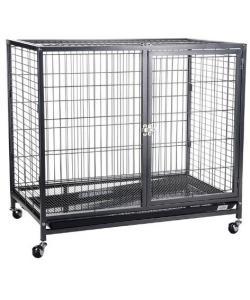 Клетка для животных окрашенная на колесиках, 109,5*70*89,5 см