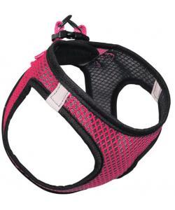 Мягкая шлейка-жилетка нейлоновая розовая XL, обхват груди 52-56см