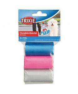 Пакеты для уборки за животными, цветные 3 л, 3 рулона по 15 шт. (22845)