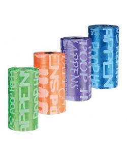 Пакеты для уборки за животными, цветные 3 л, 8 рулонов по 20 шт. (22844)