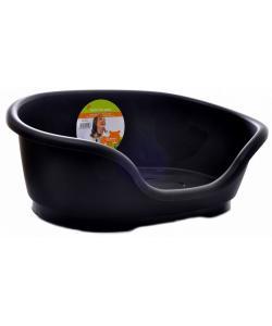Лежак domus пластиковый 50см, черный