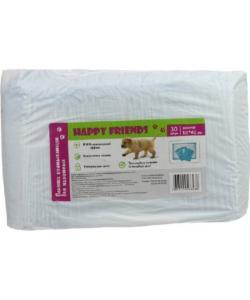 Happy Friends Пеленки впитывающие для животных, 40*60 см, 30 шт.