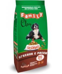 Clan Family сухой гипоаллергенный корм для взрослых собак всех пород (с ягненком и рисом)