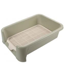 Туалет P652 для собак с сеткой, 52*40*15см, оливковый