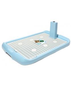 Туалет для собак со столбиком 70*47*4см (PL-001), голубой