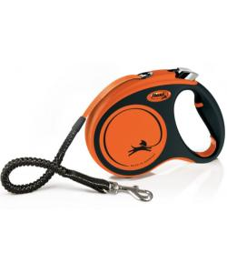 Рулетка-ремень для активных собак с усиленным поводком и регулируемой ручкой, 5 м, до 35 кг (Xtreme M)
