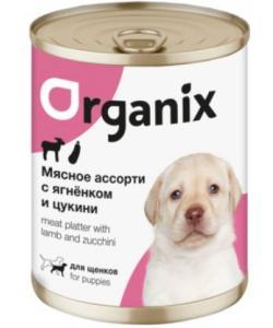 Консервы для щенков  Мясное ассорти с ягнёнком и цукини