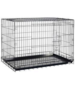 Клетка для животных, 2 двери, хром
